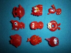 Orange Glitter Moshi Monsters x 9 IP1