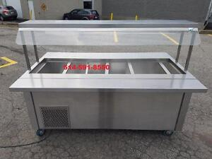 BUFFET FROID POUR SALADE / SALAD BAR  COLD BUFFET TABLE COMME NEUF LIKE NEW
