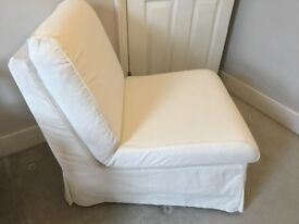 Ikea chair in pale cream
