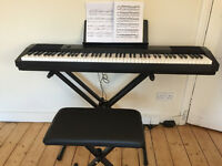 Casio CDP 120 Digital piano - with stool and stand - never used