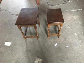Two antique coffee tables