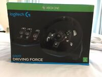 Logitech G920 Gaming Steering Wheel & Pedals - PC/XBOX/PLAYSTATION