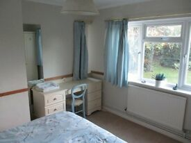 Lovely double bedroom in detached house within 10 mins walk of High St/rail stn.