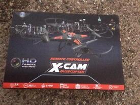 Remote controlled X-Cam quadcopter