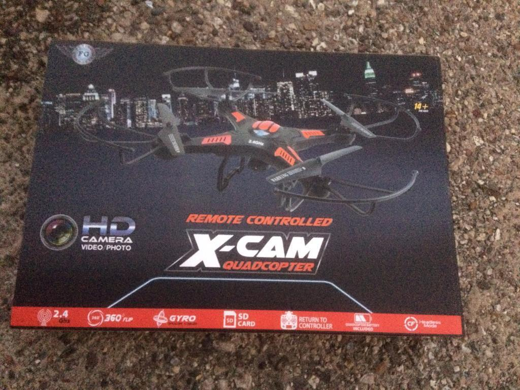 Remote controlled X-Cam quadcopter