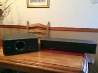 Yamaha soundbar and subwoofer