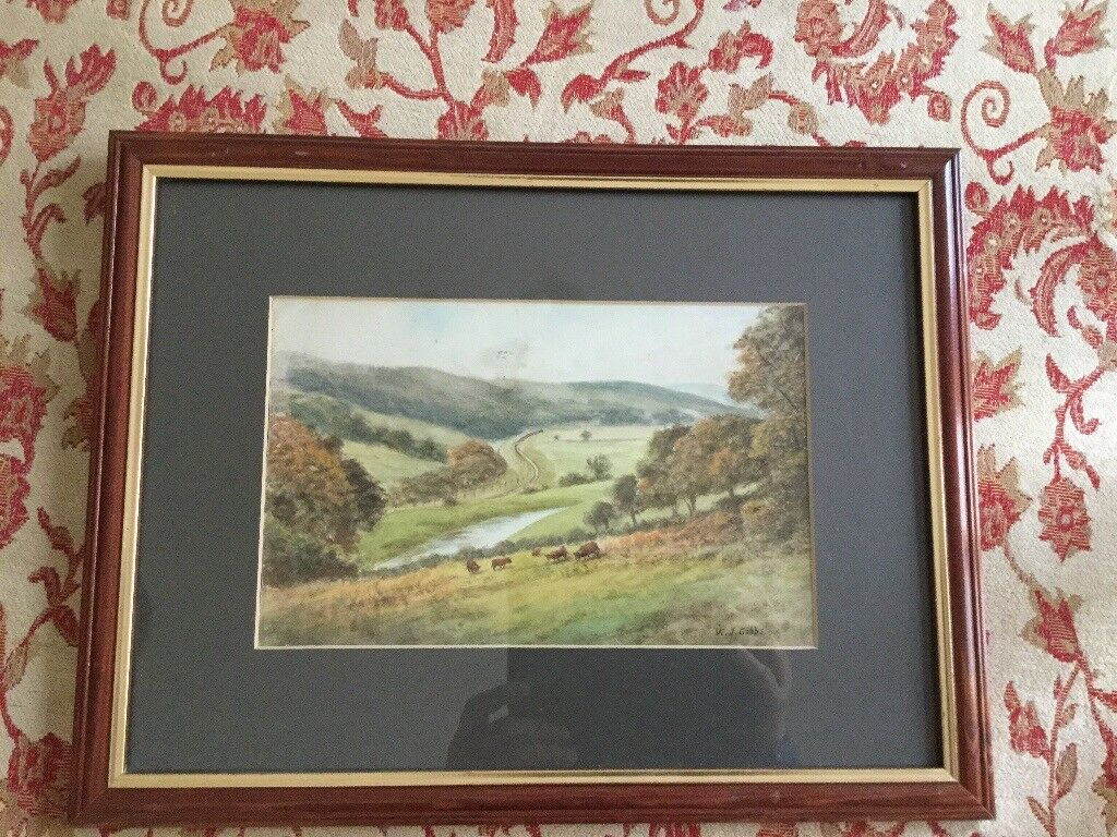 Painting of Avon Valley by WJ Gibbs