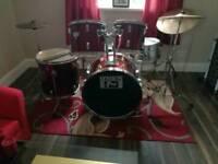 Pro session 5 piece drum kit