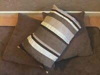 Cushions x3 in brown