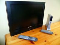 "19"" flat screen television / DVD combination for wall mounting"