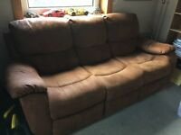 Recliner Sofa Brown soft leather