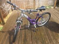 "Girls 21 Speed Mountain Bike Cycle 24"" wheels"