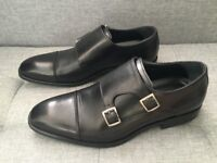 NEVER WORN Charles Tyrwhitt Double Buckle Monk Shoes in Black (size 7.5 UK MENS) with original box