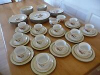 70 pieces Dinner and Teaset of Johnsons Fruit Sampler Pattern