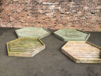 4 OF DIAMOND SHAPE PLANTER EX HOMEBASE STOCK