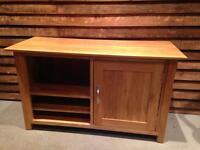 Oak tv cabinet unit