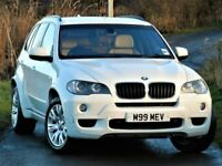 ALPINE WHITE! (2009) BMW X5 XDRIVE 30D M SPORT - CAMERA /SAT NAV - LEATHER - ALLOYS - FULL SERVICE