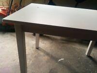 IKEA kids white wooden desk, table for drawing, eating at etc lovely item
