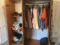 Wardrobe, large pine, 3 doors + shelves