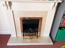 Cream Electric Fireplace seeking new home (has to go!)