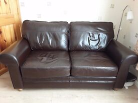 Sofa, leather, JOHN LEWIS, 2 seater