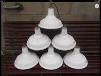Wanted old factory industrial light lamp enamel pendant antique vintage
