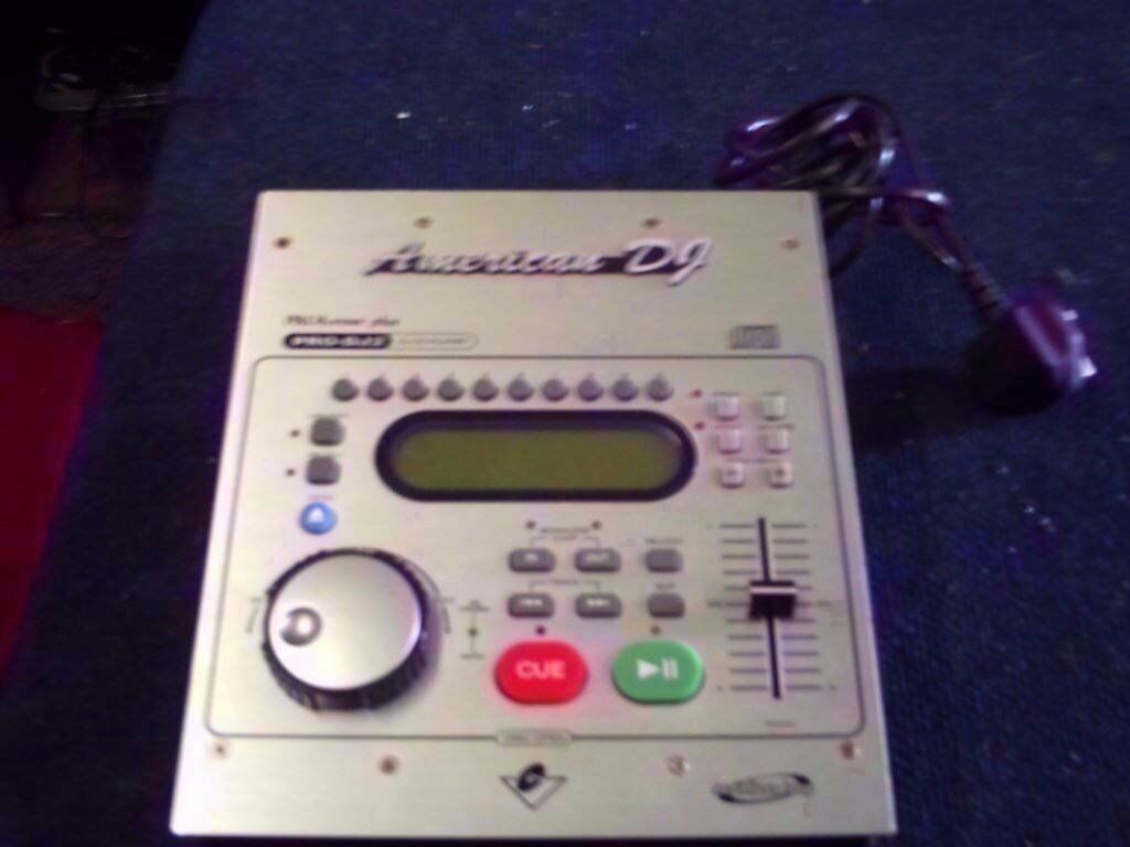 AMERICAN DJ PRO-DJ2 DJ CD PLAYER/MIXER