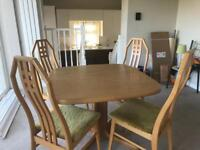 Skovby Extending Dining Table & 4 Matching Chairs