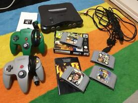 N64 console and games - golden eye