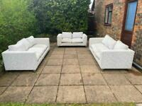Grey 3 piece sofas set 3, 3 and 2 seater can be delivered