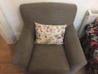 2 pcs Armchair, Hensta light brown from Ikea