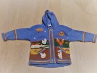 3 BOYS KNITWEAR bundle 0-2YEARS,1 Vertbaudet, 1 Mini Mode, 1 Llama Farm Decorative Hooded Cardigan