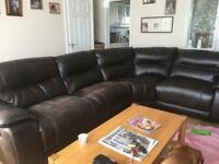 SOLD Large corner sofa and chair