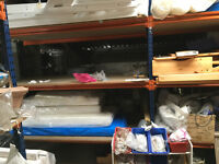 Fast Racking/shelving 90cm x 2.4 x 2.5m height, 8 bays available,also smaller bays