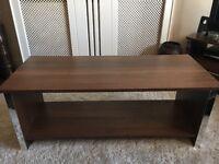 Dark Wood Coffee Tableand Bookcase