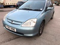 Honda Civic - automatic- one year mot - 5 doors - leather heated seats - sun roof