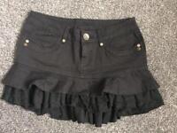 Black denim skirt size 10