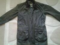 Barbour Border wax jacket with liner, hood and spare wax.