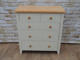 Cream Farmhouse Solid wooden chest (Delivery)
