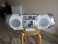 JVC Powered Woofer CD system - VHF Radio - USB connection- Quality sound system