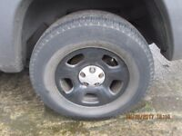 Jeep Cherokee 2002 Set of 4 Alloys and Tyres 235/70 16 Good Tyres all round.