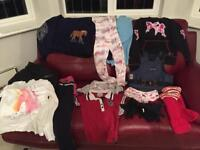 Large Bundle of Girls Horse Riding Clothes inc. back protector Age 8-10. 15+ items