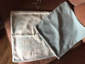 Laura Ashley Kimino Duck Egg Blue curtains and cushion covers REDUCED