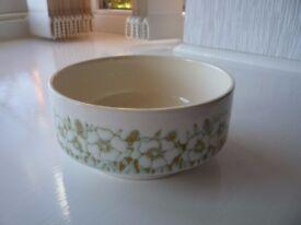 Vintage Hornsea Fleur Soup / cereal bowls