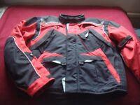 Men's Fieldsheer Textile Motobike Jacket - Size 2XL - RED/Black & Silver