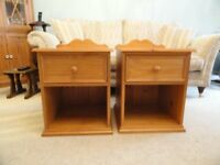 Pair of lovely solid pine bedside cabinets