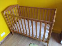 Mothercare Darlington Cot Antique + mattress