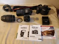 *CANON EOS 80D 24.2MP digital SLR camera Black complete with lense carry case and battery