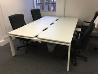 84x White office desks