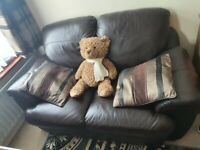 2 Seat Brown Leather Sofa (SCS)